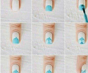 nails, stitch, and blue image