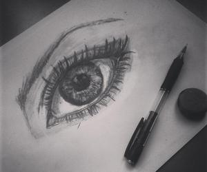 dibujo, drawing, and eye image