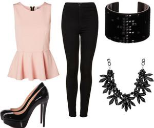 black, Polyvore, and fashion image