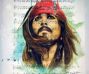 actor, jack sparrow, and johnny depp image