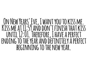 kiss, new year, and love image