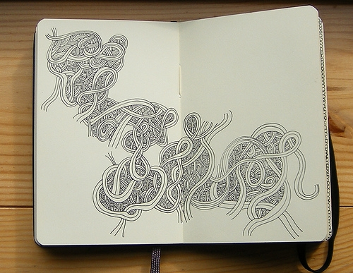 moleskin and sketchbook image