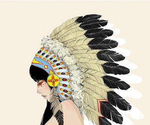 indian, art, and headdress image