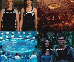 the maze runner, the hunger games, and teresa image