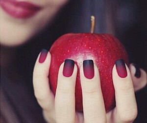nails, red, and apple image