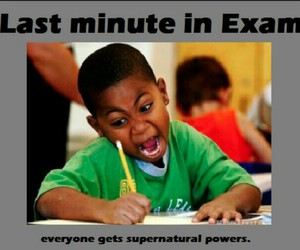 exam, funny, and kids image