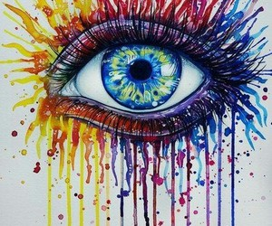 eye, art, and colors image