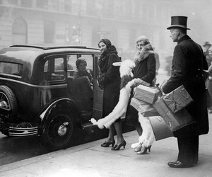 1920s, black and white, and classic car image