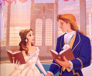 beauty and the beast, belle, and prince adam image