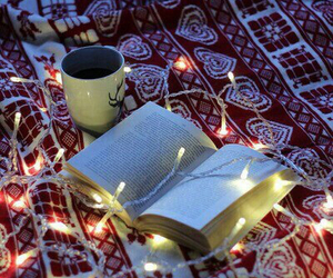 book, light, and christmas image