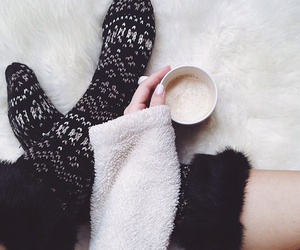 socks, tumblr, and hot ​chocolate image