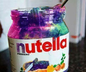 galaxy, hipster, and nutella image