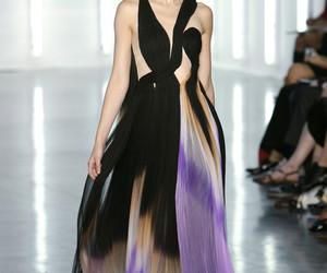 black, fashion, and long image