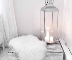 white, candle, and home image