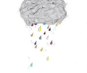 drawing, rain, and art image