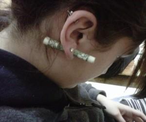 ear, earrings, and girl image