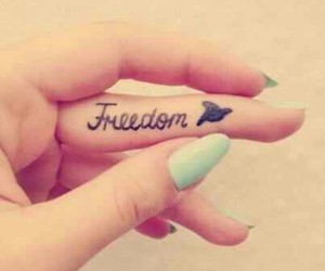 freedom, tattoo, and nails image