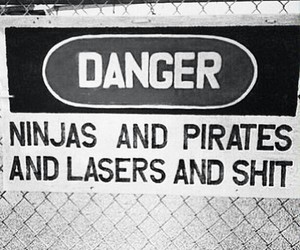 danger, laser, and ninja image