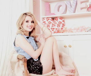 emma roberts, pink, and blonde image