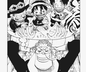 manga, one piece, and luffy image