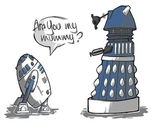 Dalek, doctor who, and star wars image