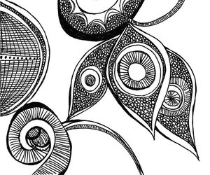 art, black and white, and doodles image