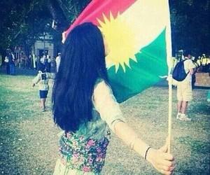 flag, girl, and kurdistan image
