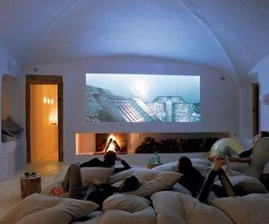 architecture, movie theater, and decor image