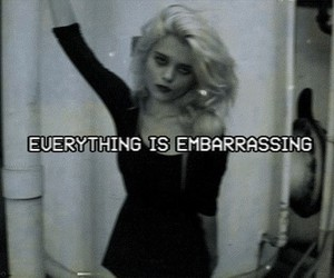 grunge, sky ferreira, and embarrassing image