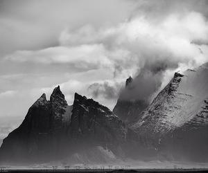 amazing, black&white, and mountains image