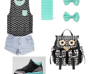 Polyvore, backpack, and cute outfits image