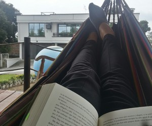book, family, and relax image