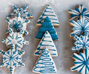 blue, christmas cookies, and Cookies image