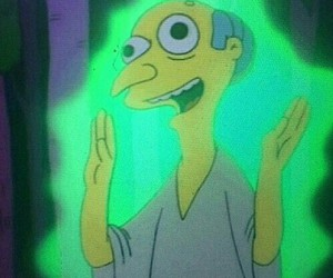 The Simpson, alien, and green image