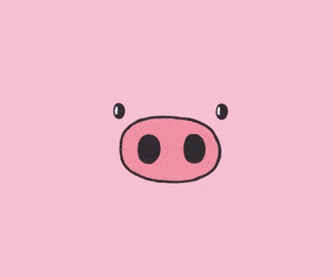 pig, pink, and wallpaper image