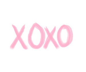 xoxo, pink, and header image