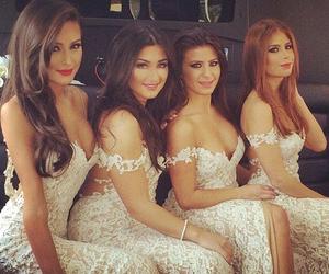 bride, bridesmaids, and girls image