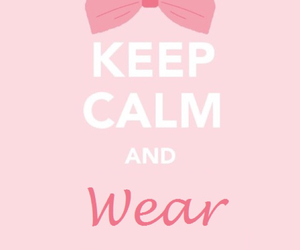 bow, keep calm, and pink image