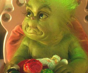 baby, grinch, and OMG image