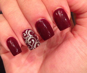 nails, red, and silver image