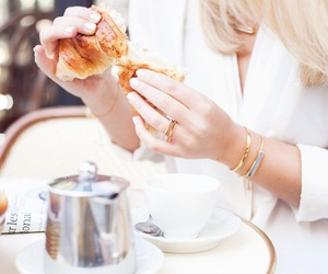 croissant, style, and breakfast image
