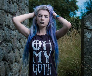 pastel goth, girl, and goth image