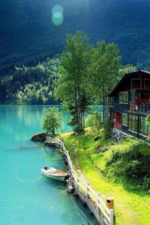 nature, norway, and lake image