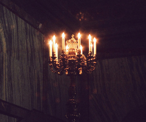 light, candle, and dark image