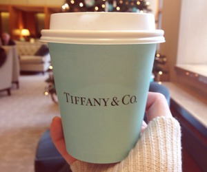 coffee, christmas, and tiffany & co image