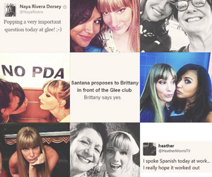 glee, heya, and brittana image