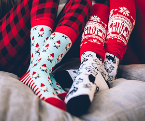 christmas, socks, and style image