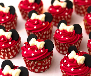 cupcake, food, and red image