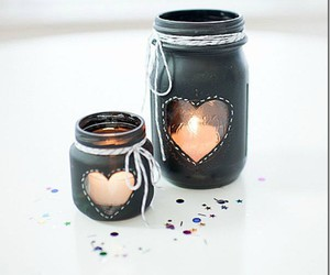 diy, candle, and jar image
