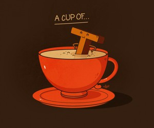tea, cup, and funny image